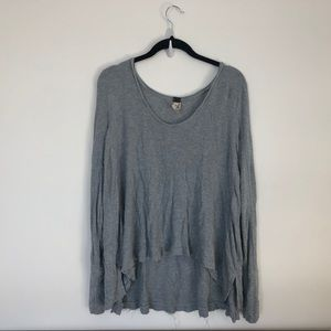 Free People We the Free Long Sleeve Waffle Top